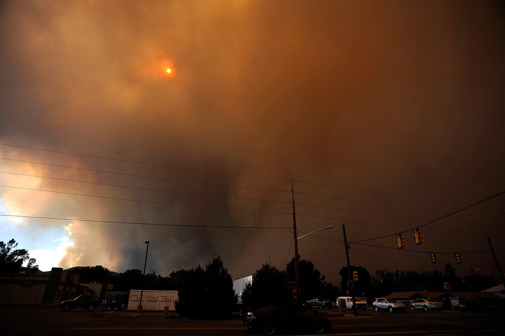 . The small town of Laporte seems to be engulfed in smoke from the High Park Fire. The High Park fire northwest of Fort Collins continues to burn today June 10th, 2012.  The fire is now estimated at over 14,000 acres and still zero percent containment. Helen H. Richardson, The Denver Post