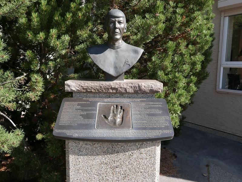 Leonard Nimoy's statue on Main Street