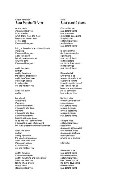 Sar Perche Ti Amo Lyrics.jpg