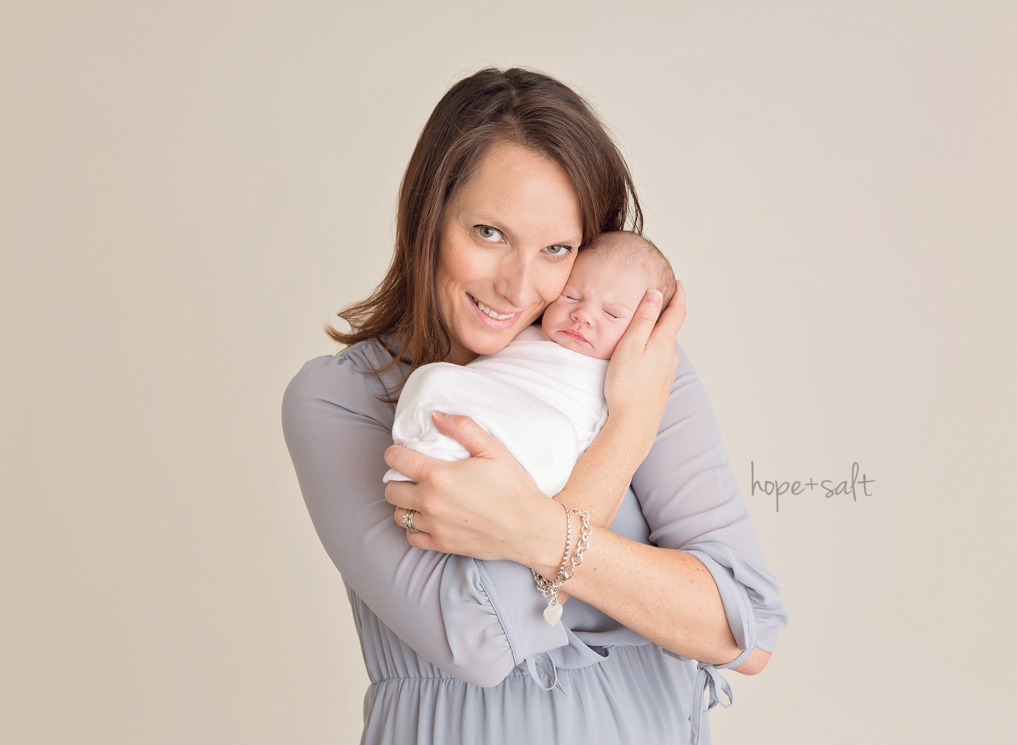 hamilton newborn photographer - studio session for baby girl evangeline and family simple all neutrals timeless and classic images