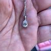 1.11ct Pear Shape Diamond Pendant GIA E VVS2 9