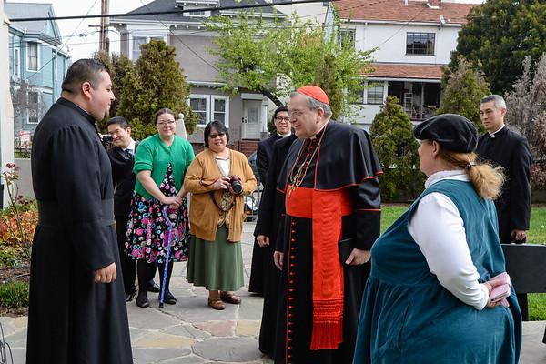 Pontifical Mass with Cardinal Burke, Reception, Benediction (camera 3)