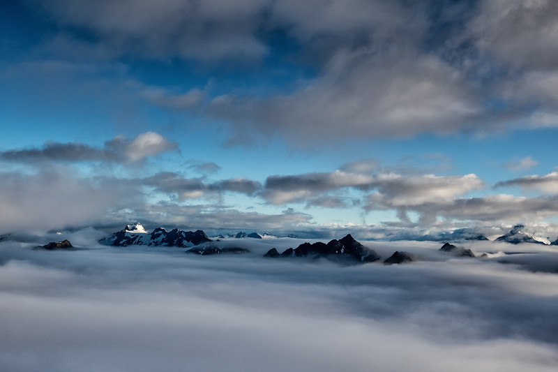 Mt. Aspiring in the Clouds