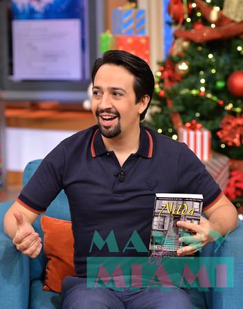 12-19-18 - Lin-Manuel Miranda visits Univision