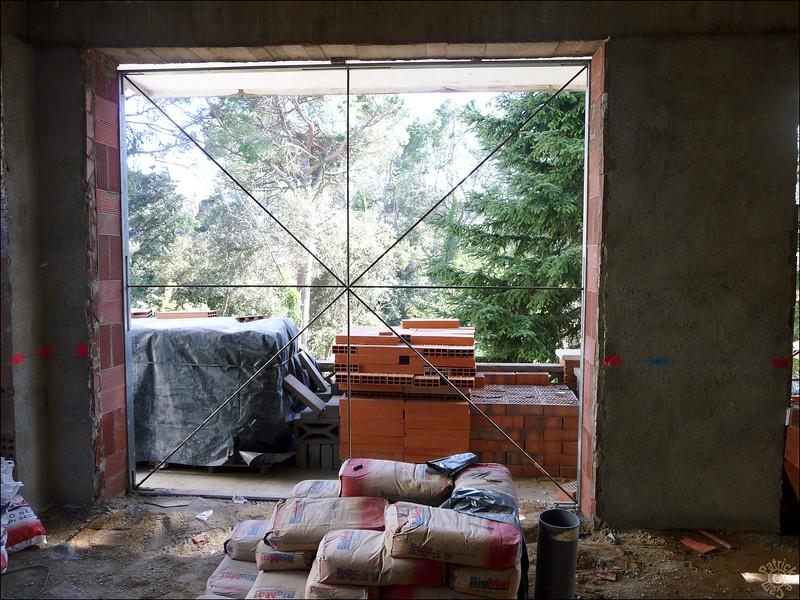 Porte-fenêtre de la cuisine