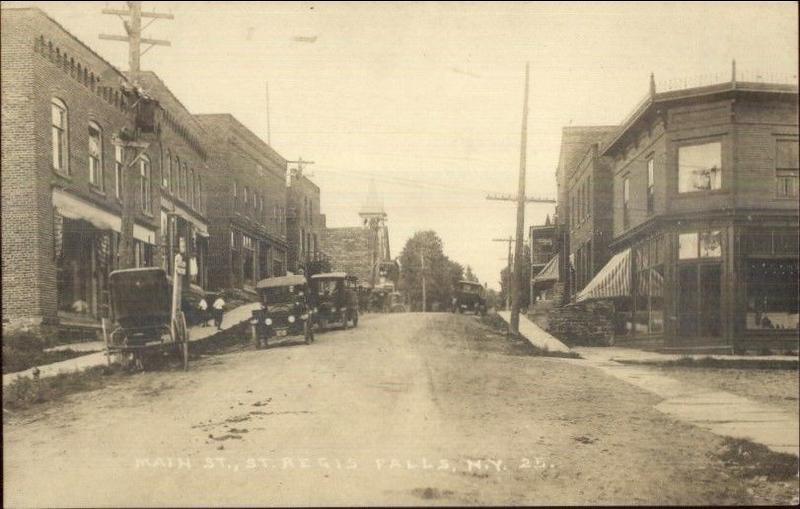St. Regis Falls NY Main St. c1910.jpg