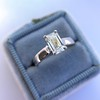 1.00ct Emerald Cut Diamond Solitaire, Platinum 14