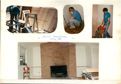 5-28-1989 Building bookshelves @ Gail Mukaihata