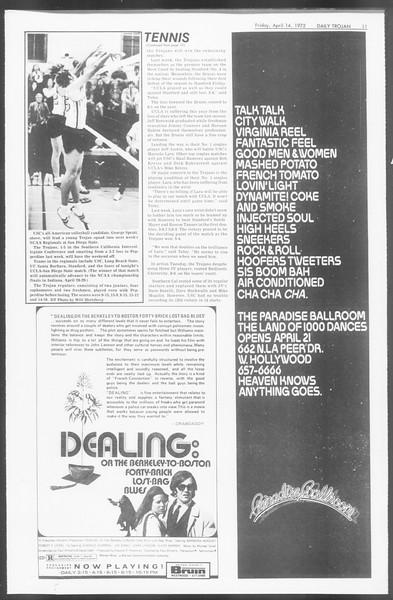 Daily Trojan, Vol. 64, No. 104, April 14, 1972