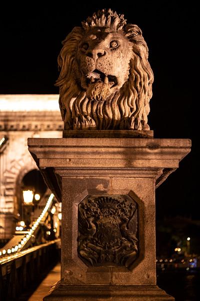 fierce lion guarding Chain Bridge at night.jpg