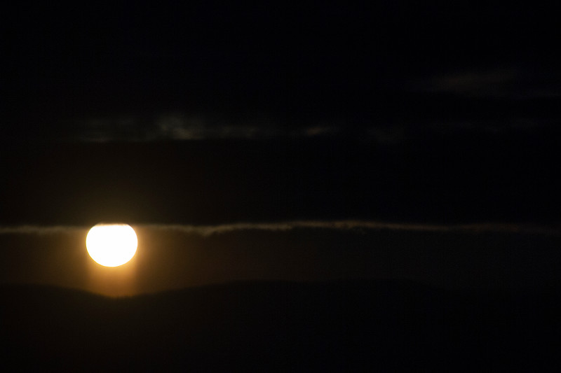 Sunset and Moonrise over the Big Belts