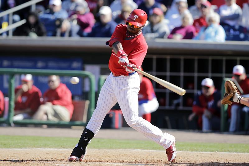 Nationals Phillies Spring Baseball