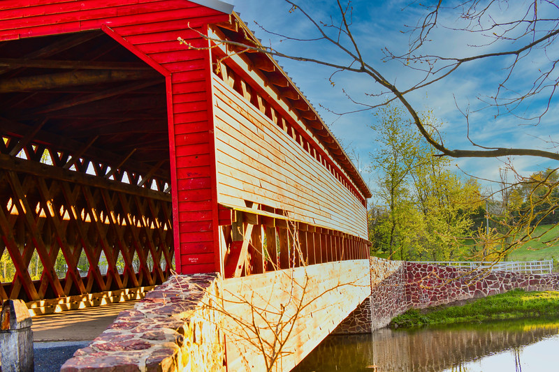 Sachs Covered Bridge - right view