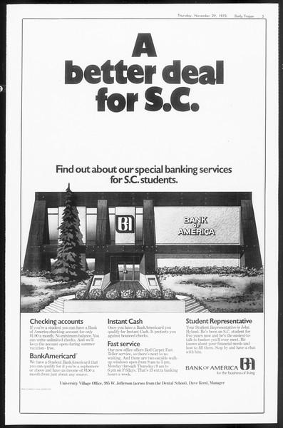 Daily Trojan, Vol. 66, No. 47, November 29, 1973