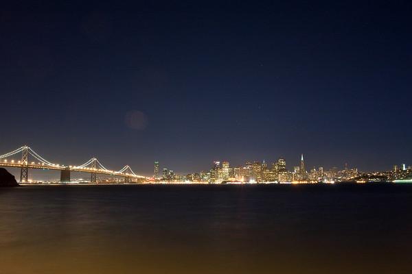 San Francisco skyline at night-Treasure Island Sept 2010