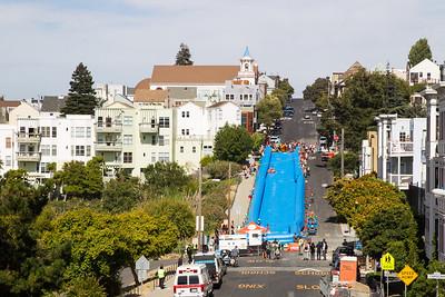 Giant Slip'n'Slide on Potrero Hill