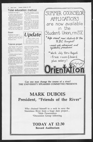 Daily Trojan, Vol. 87, No. 27, October 23, 1979