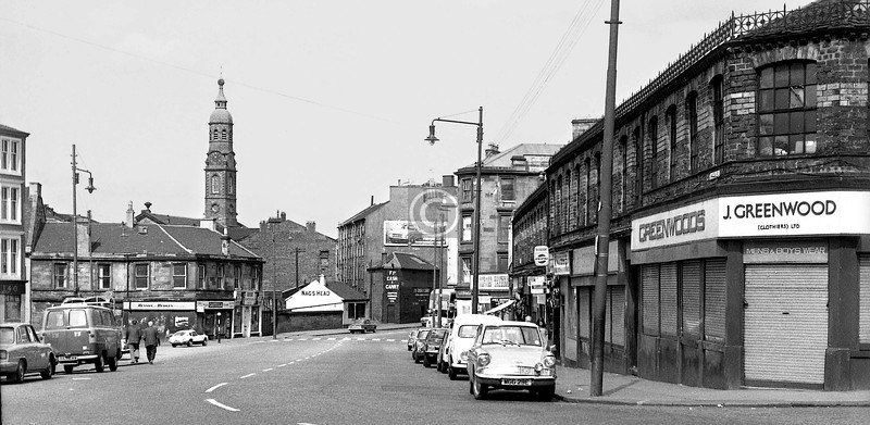 London Rd from the chicane. Again barely recognisable now.    July 1973