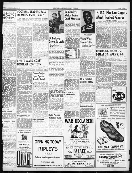 Daily Trojan, Vol. 31, No. 27, October 23, 1939