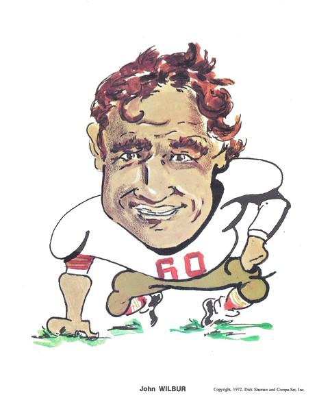 1972 Compu-Set Redskins John Wilbur