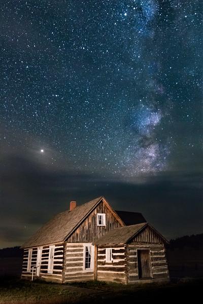 Milky Way Over the Hornbek Cabin