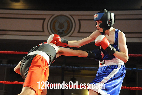 Bout 7 Alex  Rodriguez, Raul Torres BA, Brooklyn HS -vs- Nate Balega, Valley Forge BC, Parma HS-119 Lbs, Sub-Novice