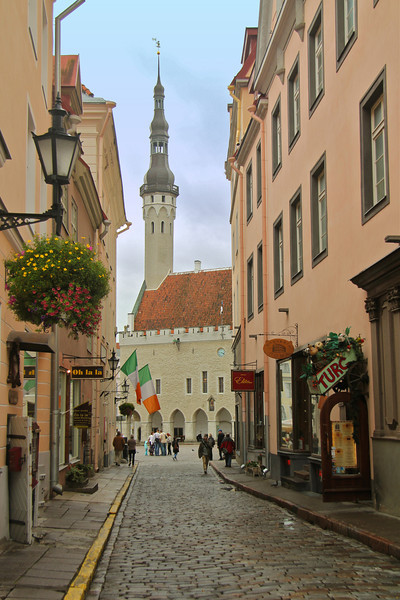 Town Hall as seen from Mundi Street -Tallinn, Estonia