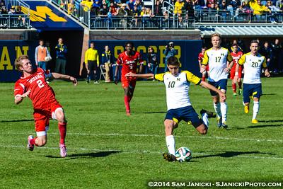 Best of UM Men's Soccer Vs Indiana 10-26-14