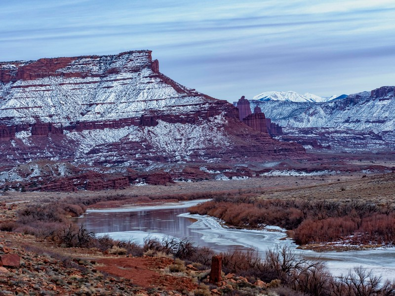Colorado River looking towards Fisher Towers