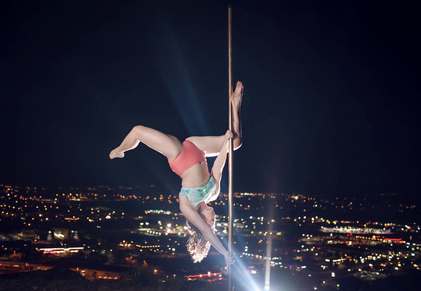 McKayla's Night Scape Pole Shoot