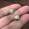 1.65ctw Old European Cut Diamond Dormeuse Earrings 5