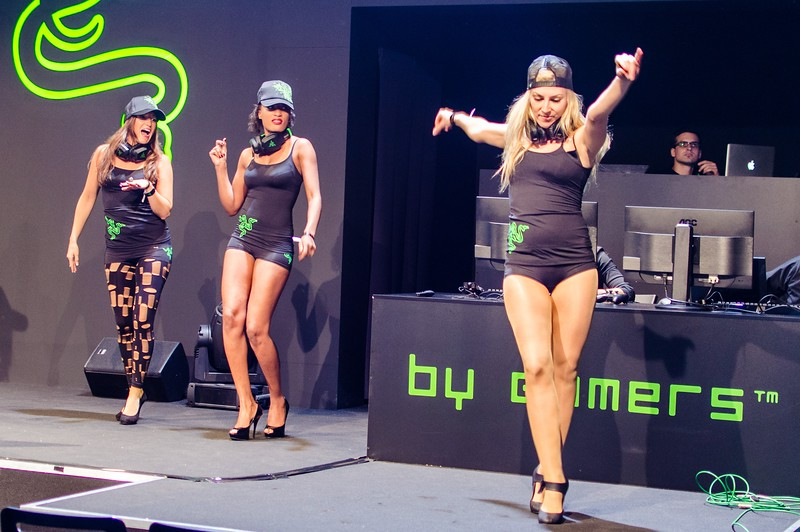 Razer girls @ Gamescom 2012