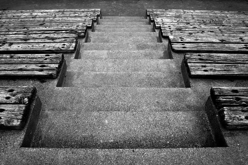 080426-008BW (Abstract; Stairs, Bleachers).jpg