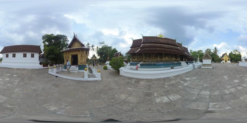 Wat Xiengthong, Luang Parbang, laos, 360 tiny planet