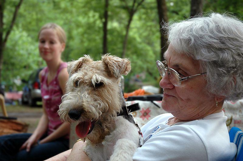 Grandma keeps Max under control.