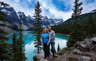 Moraine Lake - Summer and Joshua