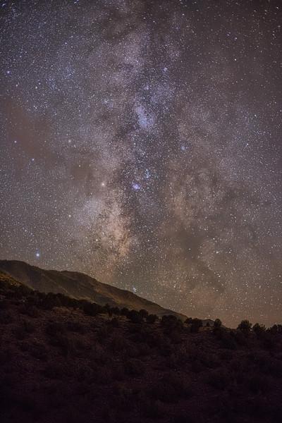 Milky Way over Glenwood Mountain