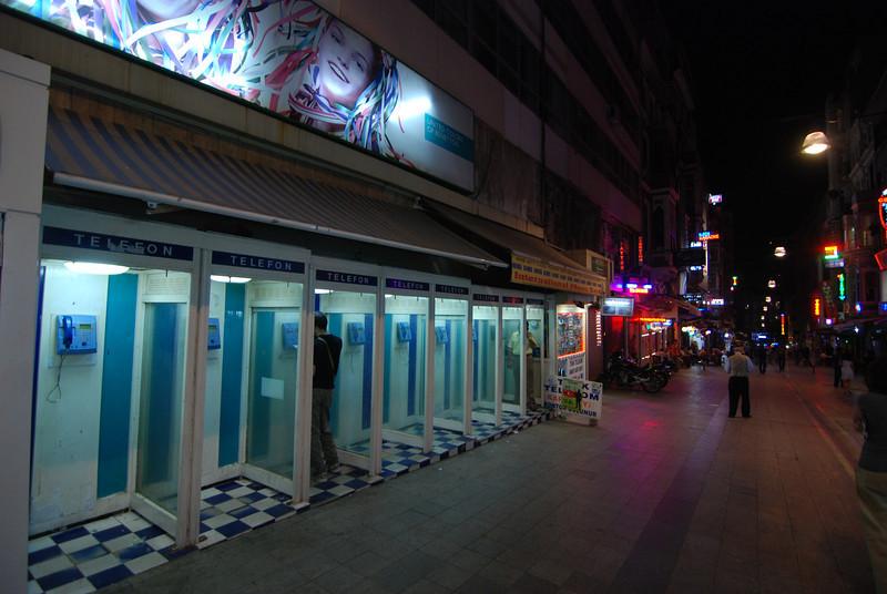 phone booths - Istanbul, Turkey