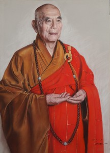 """""""Pray for auspiciousness"""" (soft pastel on paper) by Qingquan Zhang"""