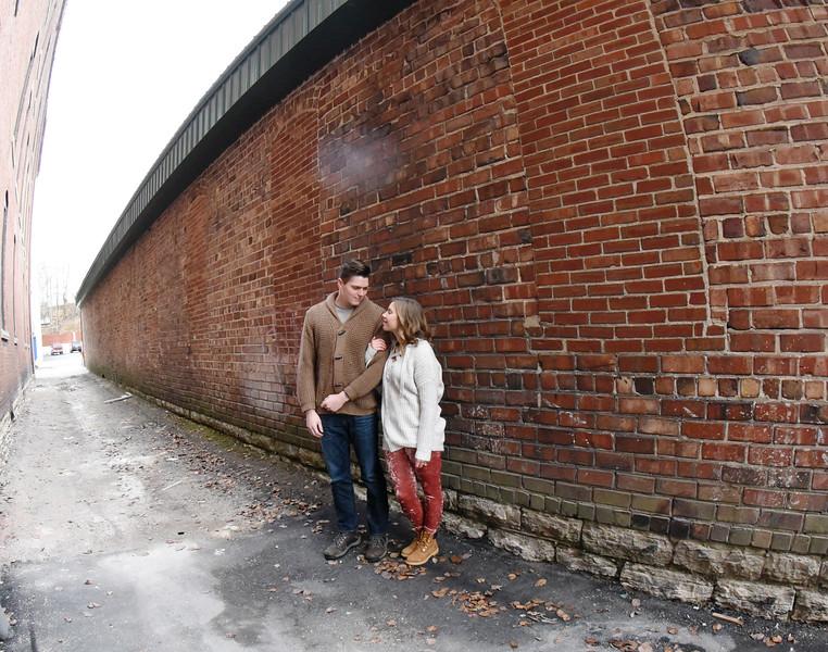 Natalie & Brock- Wabash Winter Engagement
