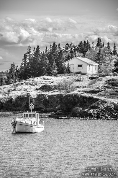At Anchor   Black and White Photography by wayne Heim