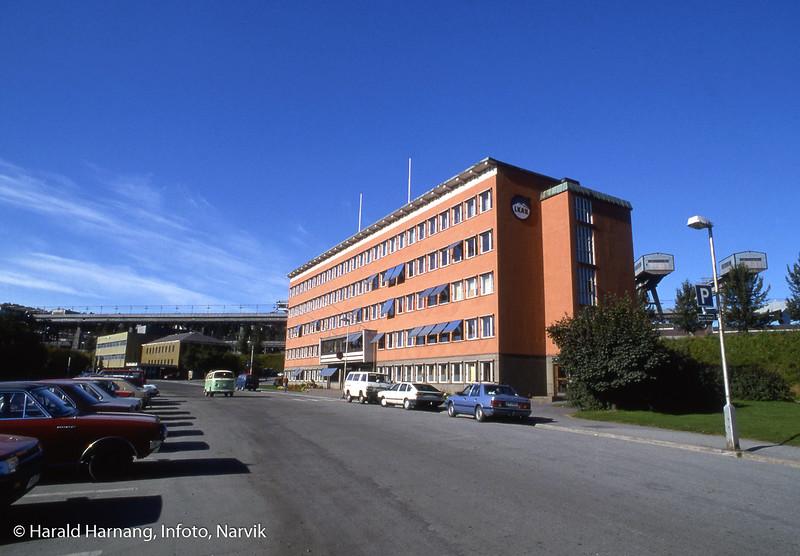 LKABs admbygning i Havnegata innvies 1958. Foto midt på 80-tallet