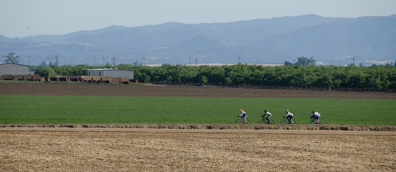 Cyclists along Road 24A