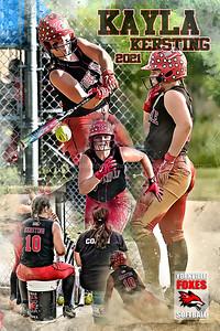 Kayla Kersting Softball Print
