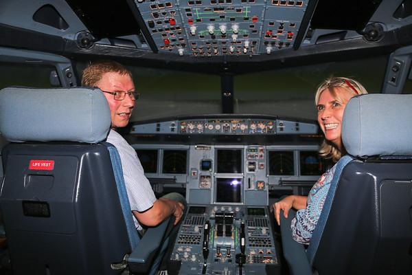 JetBlue, Airbus A320 Flight Simulator, Orlando - March, 2014