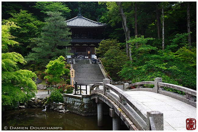 Pond and bridge at Chion-in Temple