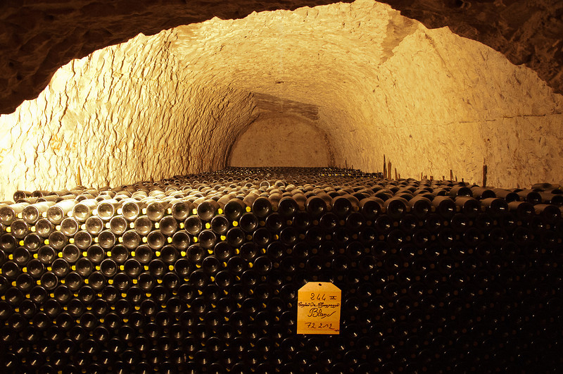 A LOT of champagne bottles - over 3 million in the entire cellar - only 72,000+ here.