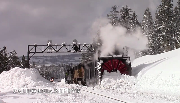 Rotaries Clear Snow Pack in Donner Pass Video