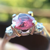 2.17ct Diamond & Spinel 3-Stone Ring 14