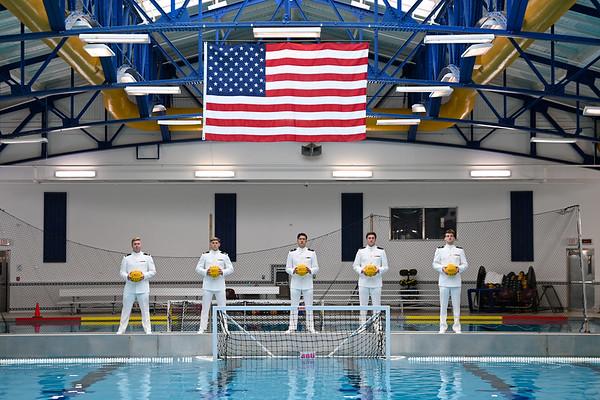 2021 USNA Water Polo - Senior Group Photos